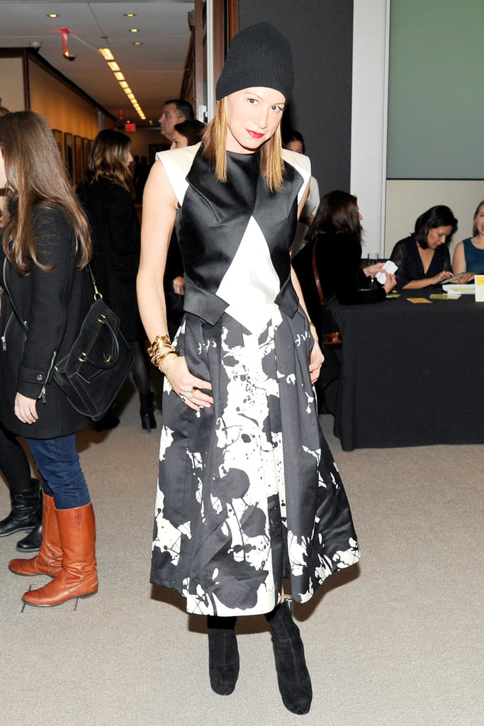 Jennifer Fisher in Tibi at the Free Arts NYC A to Z Project launch.