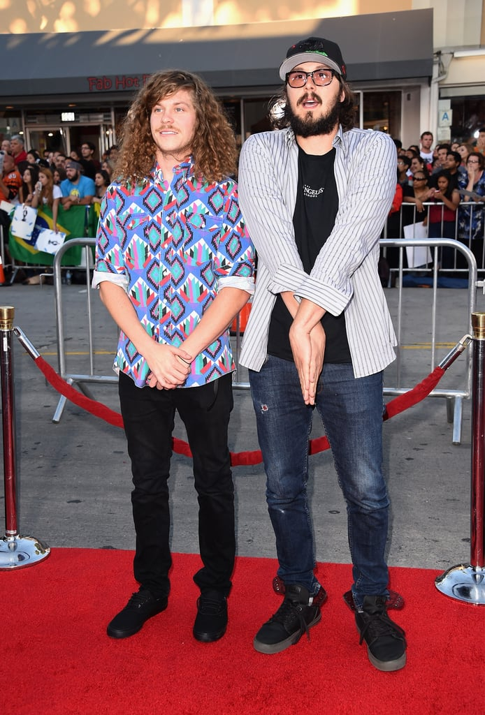 Workaholics stars Blake Anderson and Kyle Newacheck were there.
