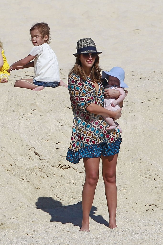 Jessica Alba had a day in the sun with her two girls.