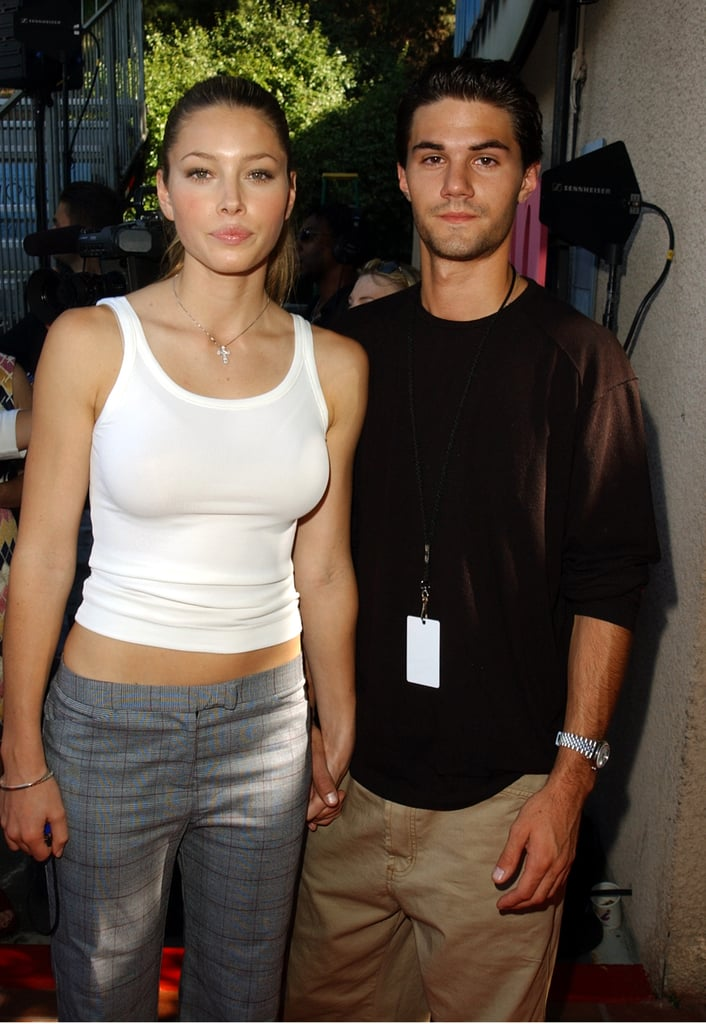 At the 2001 Teen Choice Awards, Jessica Biel held hands with 7th Heaven co-star Adam LaVorgna.