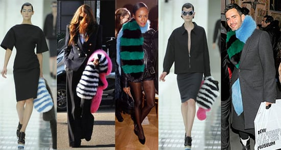 Freaky or Fabulous: Prada's Striped Fur Stole