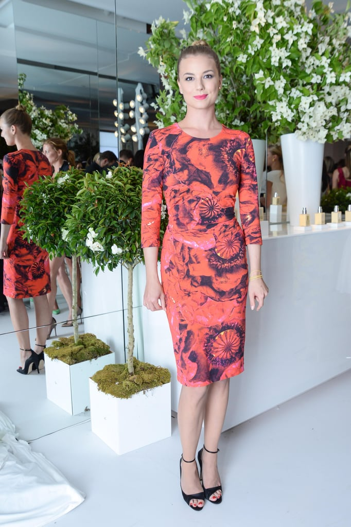 Emily VanCamp at Clinique's Dramatically Different Party in New York. Source: Joe Schildhorn/BFAnyc.com