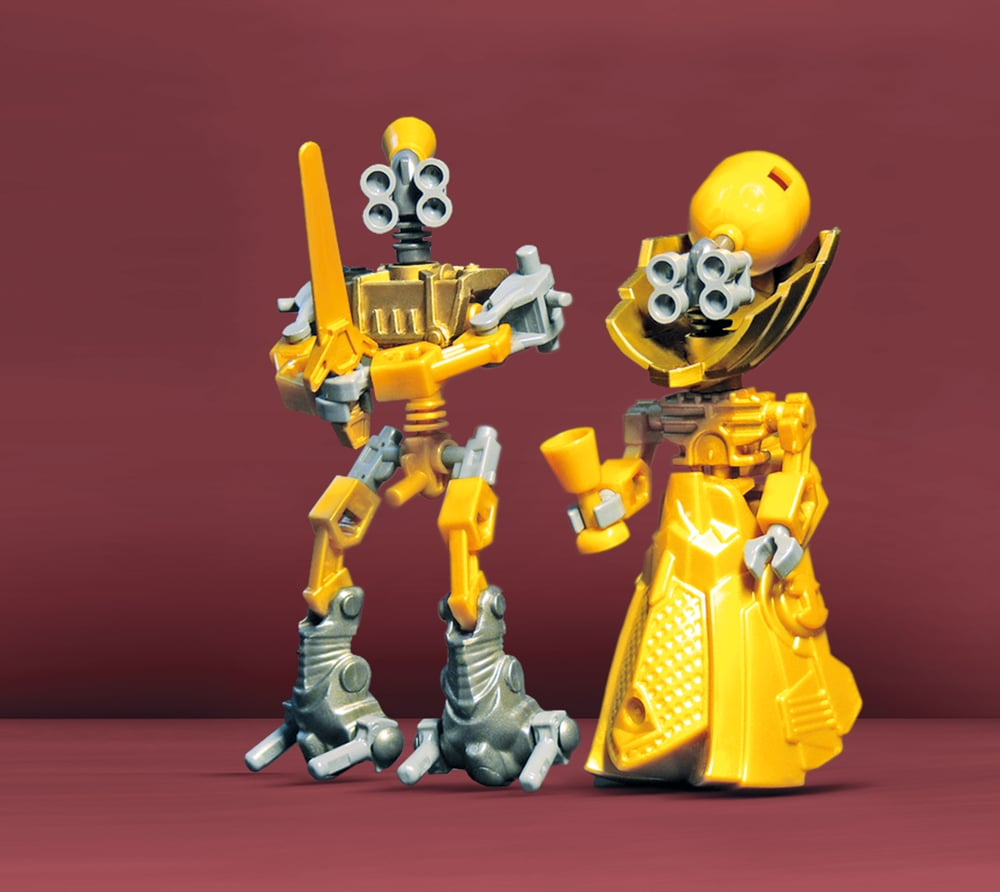 """There's a touch of Mars Attacks! in Robert Heim's """"Royal Robots."""" Source: Royal Robots (2011) © Robert Heim"""