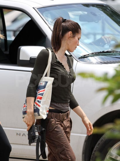 Jessica Biel arrived at the Toronto set of Total Recall.