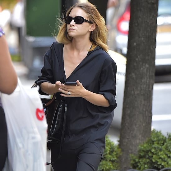 Mary-Kate Olsen Wearing Orange Espadrilles