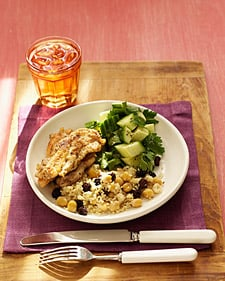 Chicken With Couscous and Cucumber Salad Recipe