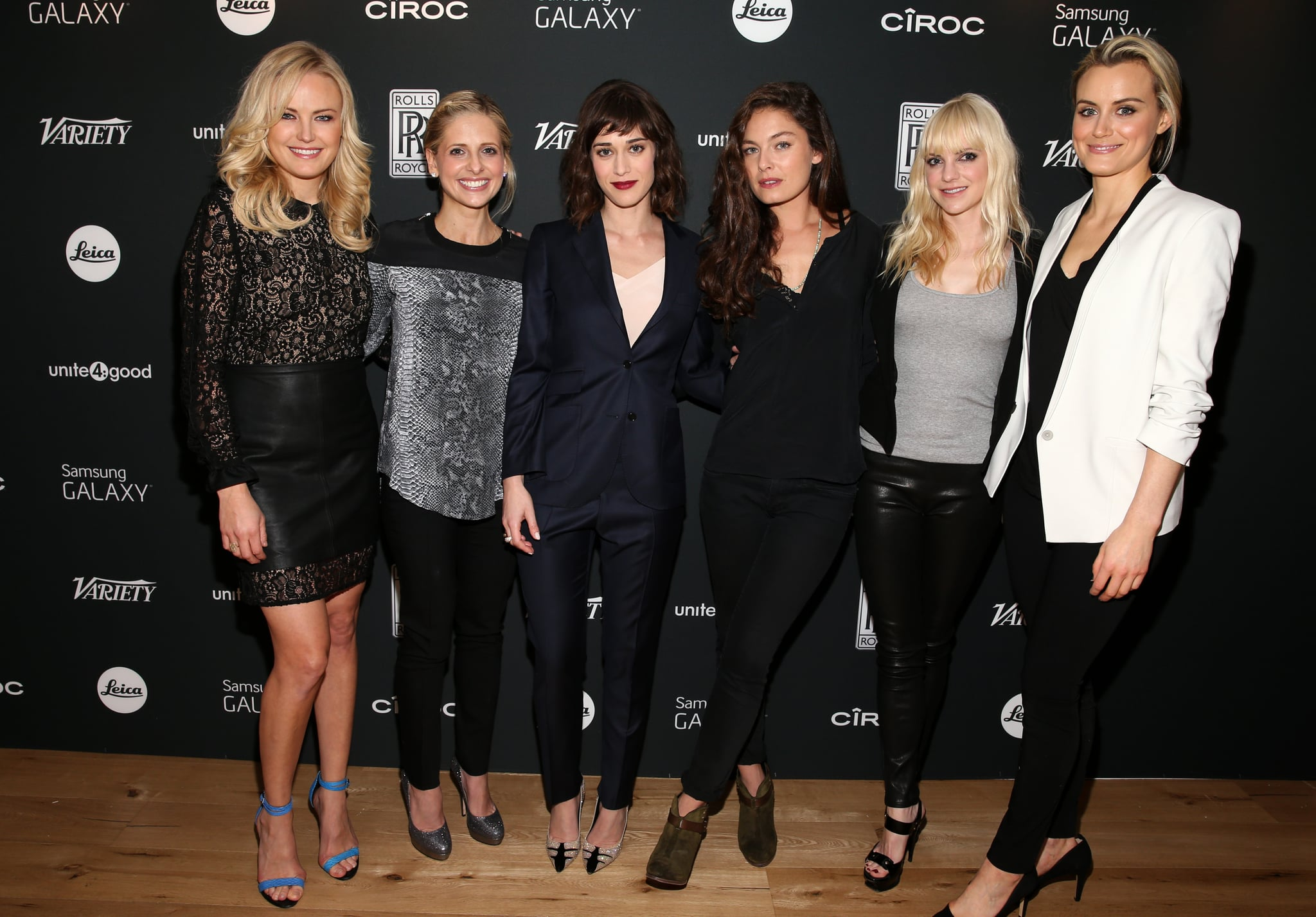 Malin Akerman, Sarah Michelle Gellar, Lizzy Caplan, Alexa Davalos, Anna Faris, and Taylor Schilling linked up for the Variety Awards Studio in LA on Wednesday.