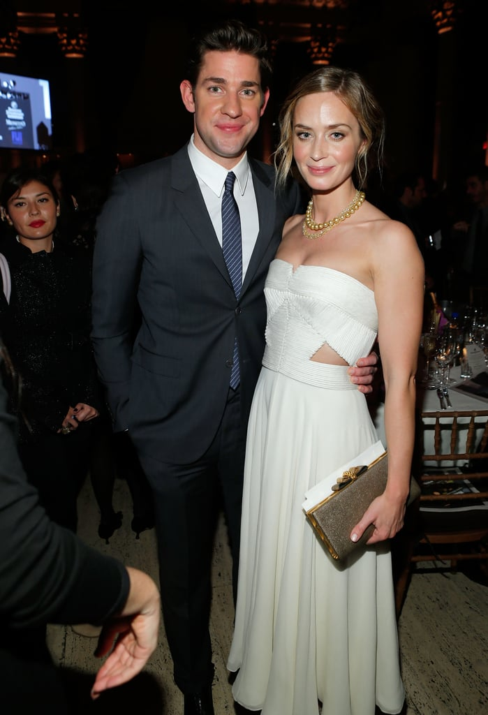 John Krasinski and Emily Blunt had their arms around each other at the Gotham Independent Film Awards.