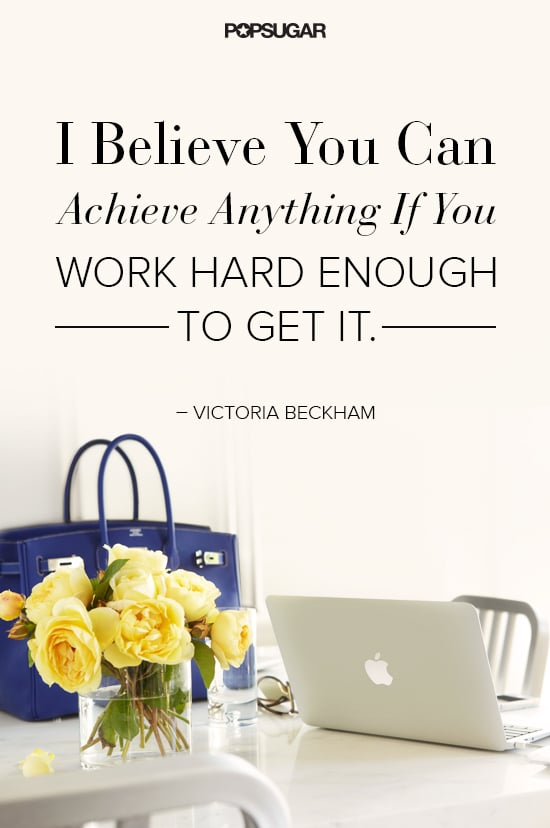 From Spice Girl to fashion designer, Victoria Beckham knows a thing or two about success.