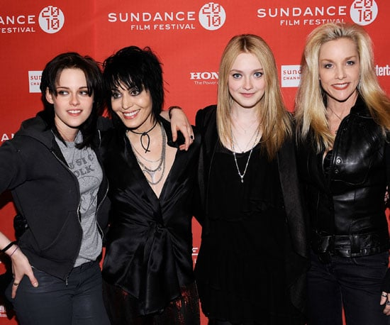 Slide Photo of Kristen Stewart, Joan Jett and Dakota Fanning at Sundance on Red Carpet