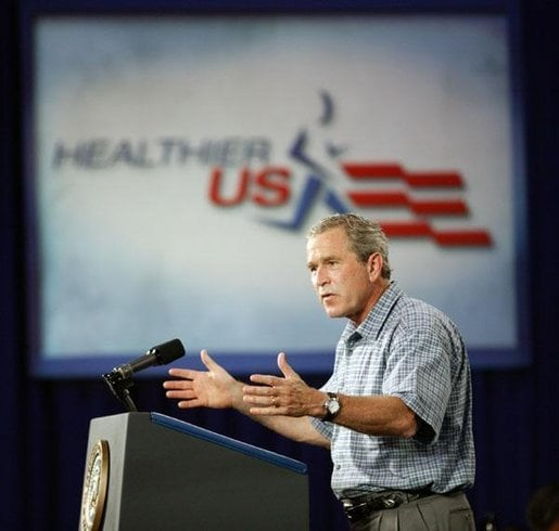 Bush Gets Physical With Us