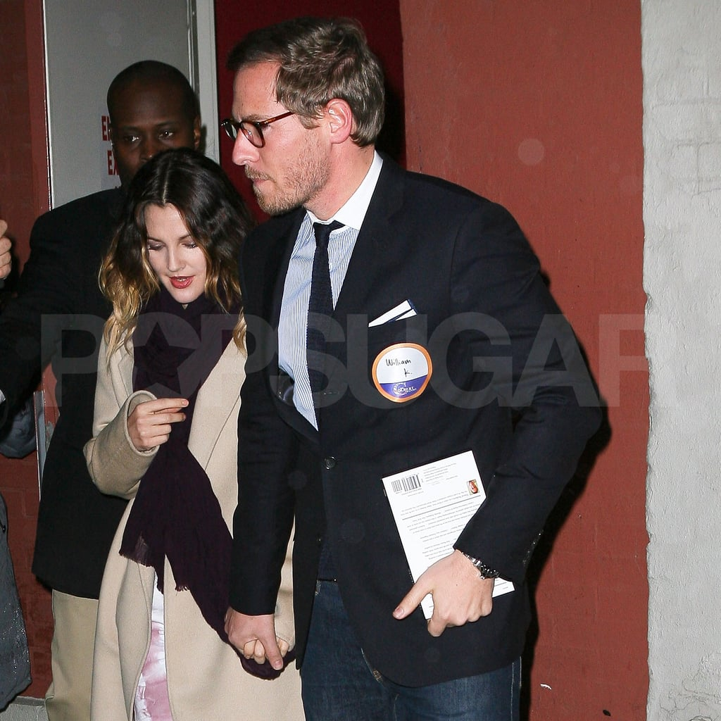 Drew Barrymore amd fiancé Will Kopelman hung out in NYC.