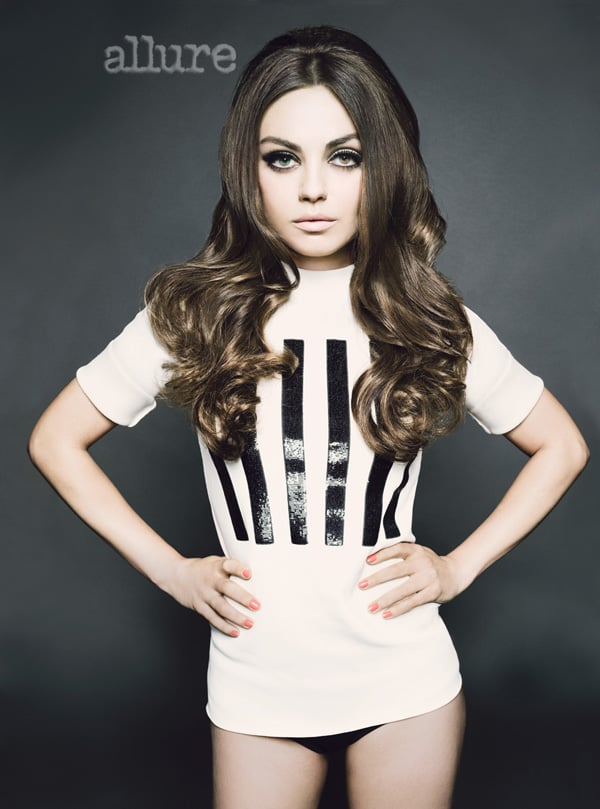 Mila Kunis wore a t-shirt and briefs by Marc Jacobs.
