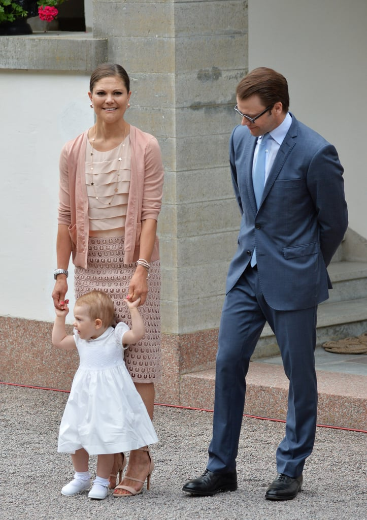 Prince Daniel admired his adorable daughter.