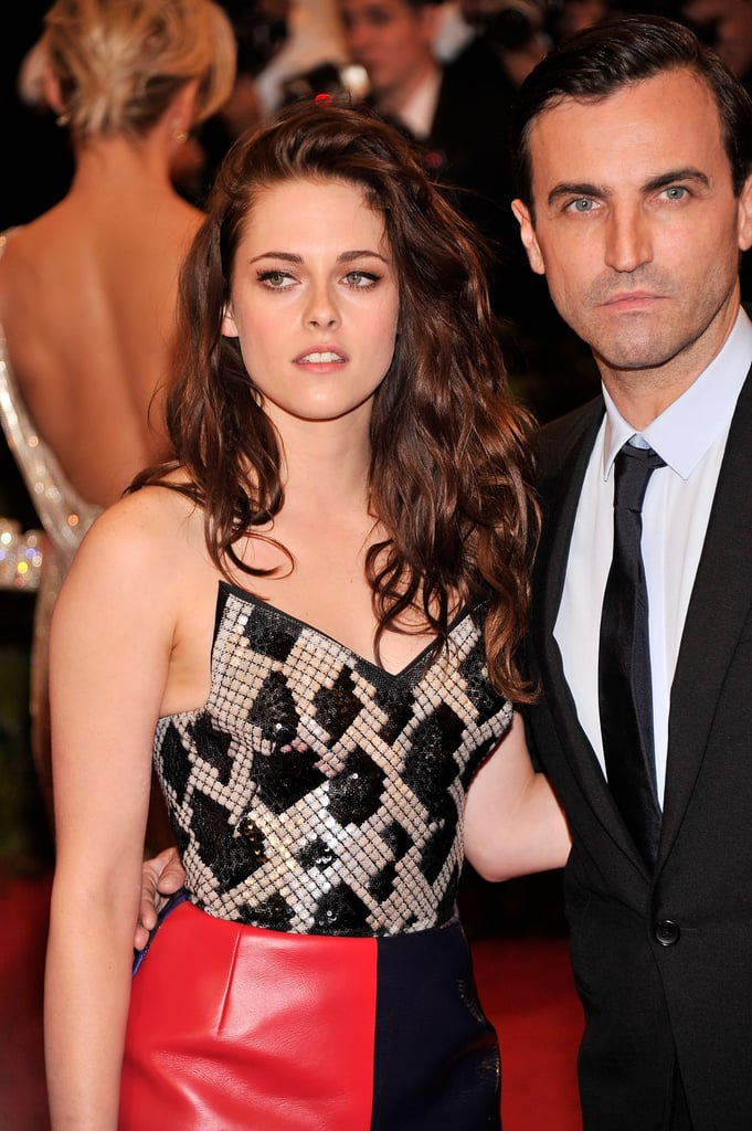 Kristen Stewart was arm-in-arm with Balenciaga designer Nicolas Ghesquiere at the Met Gala.
