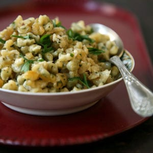 Garlic Spaetzle with Emmentaler
