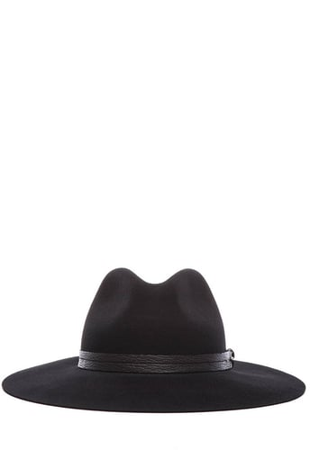 rag & bone Wide Brim Fedora in Black