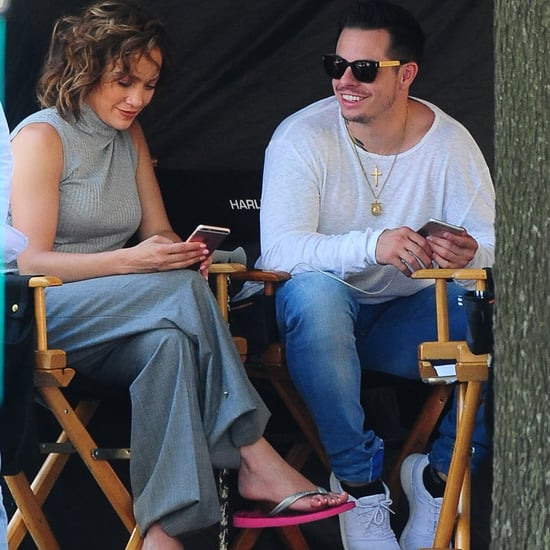 Jennifer Lopez and Casper Smart on the Shades of Blue Set