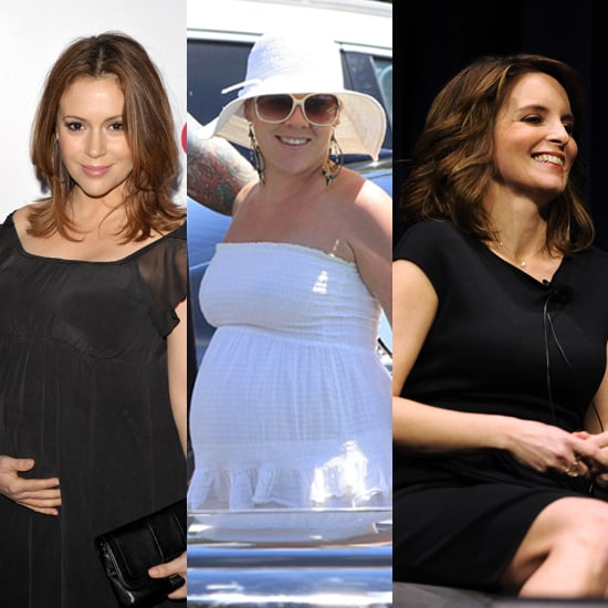 Pictures of Alyssa Milano, Pink, and Tina Fey Pregnant