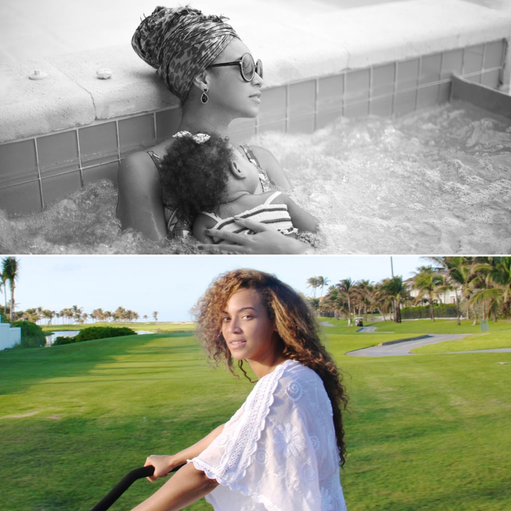 Beyoncé Bikes on the Beach and Hits the Spa With Blue!