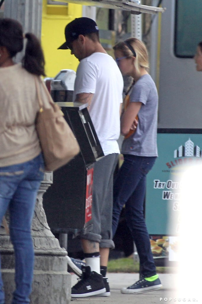 Ryan Phillippe and Ava Phillippe got lunch at a food truck in LA on Friday.