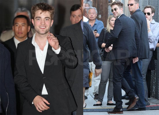 Pictures of Robert Pattinson and Kristen Stewart at Jimmy Kimmel Live