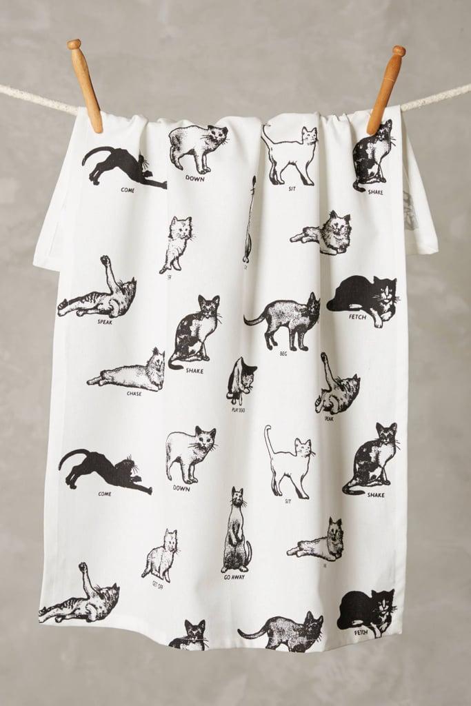 Cat Commands Dish Towel