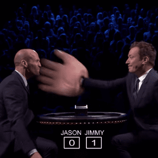 Jimmy Fallon Was Way Too Excited to Slap Jason Statham Across the Face