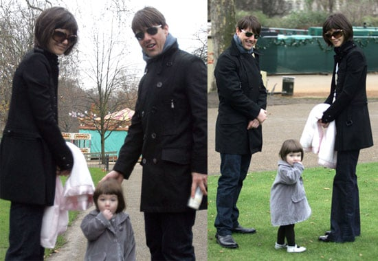 Tom, Katie and Fashion Plate Suri Hit London