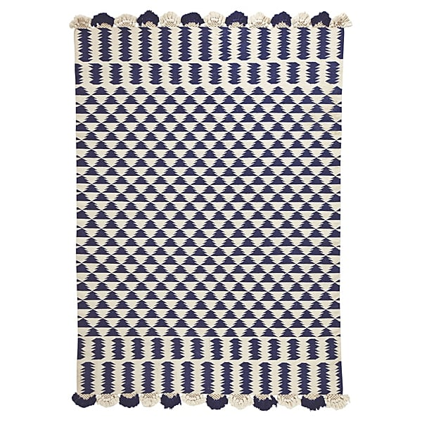 Serena & Lily Zig Cotton Dhurrie Rug