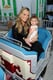 Molly Sims took a train ride with her little one.
