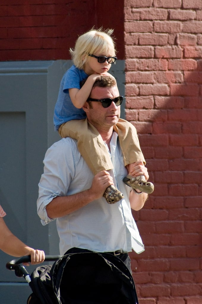 Liev Schreiber and Sasha out in NYC.