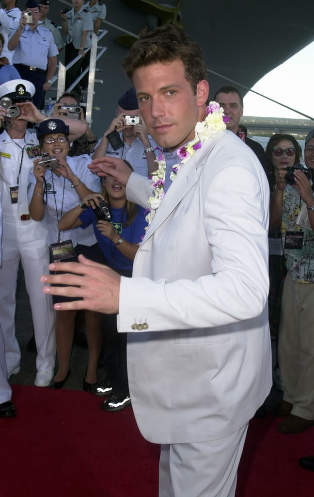 Ben Affleck walked on the USS John C. Stennis in Honolulu, Hawaii, during the May 2001 premiere of Pearl Harbor.