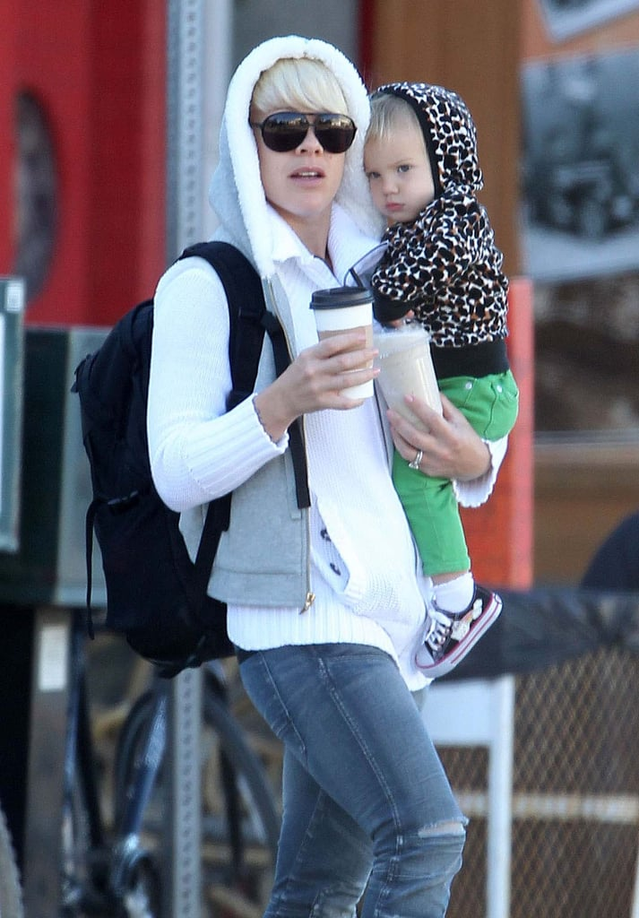 Like mother, like daughter — Pink and Willow both sported hoodies while out for breakfast in LA.