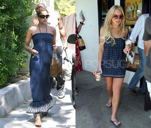 Who Wore It Better? Juicy Couture Blue Printed Dress