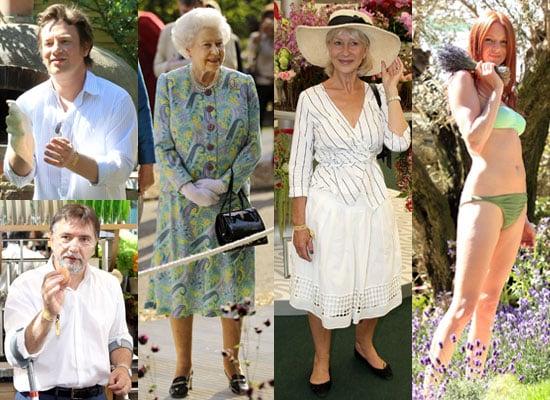 Pictures of 2010 Chelsea Flower Show Inc Jamie Oliver, Raymond Blanc, Queen Elizabeth II, Helen Mirren, Olivia Inge in Bikini