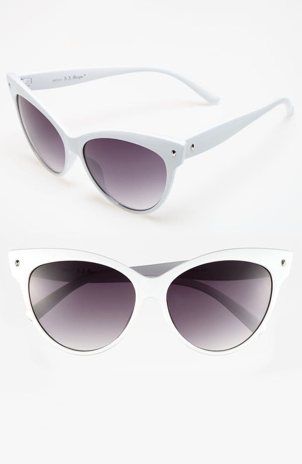 Step outside the sunglass box this Summer with crisp white shades ($24) like this pair from A.J. Morgan.