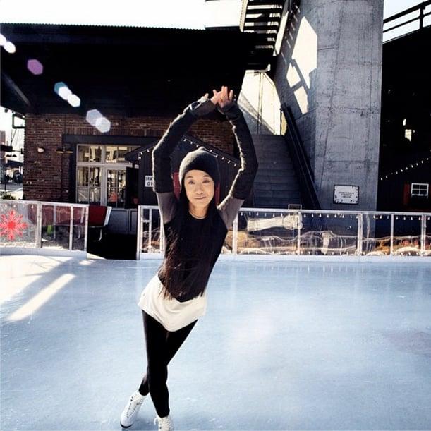 Vera Wang revisited her old hobby of ice skating. Source: Instagram user verawanggang