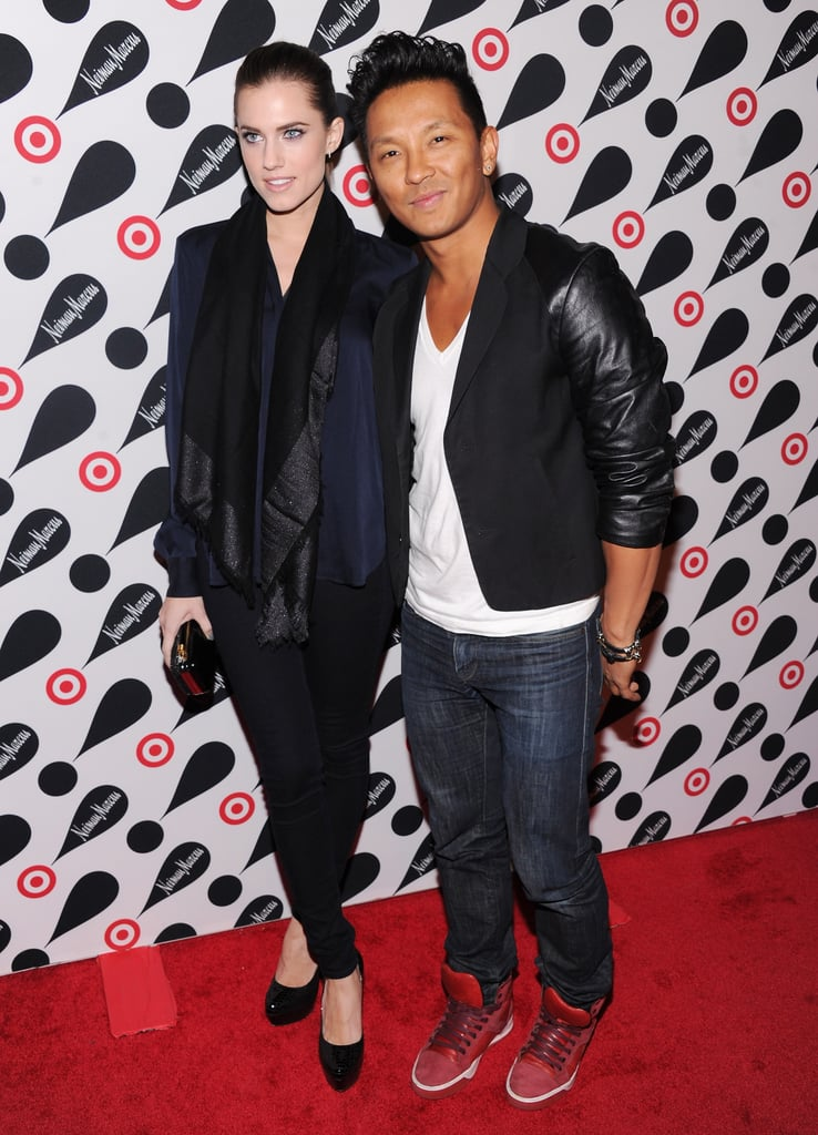 Prabal Gurung and Allison Williams posed together.