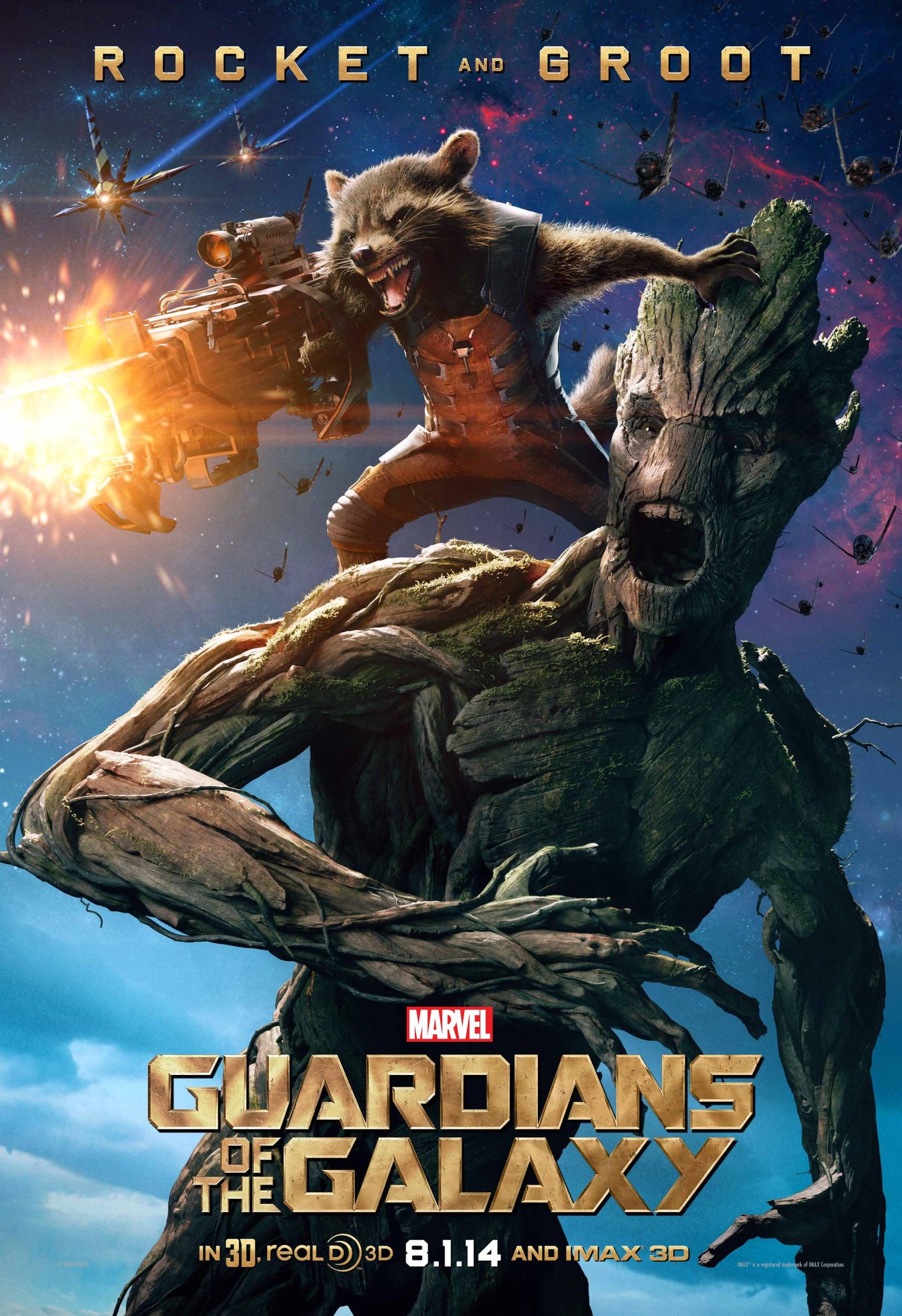 Bradley Cooper as Rocket and Vin Diesel as Groot