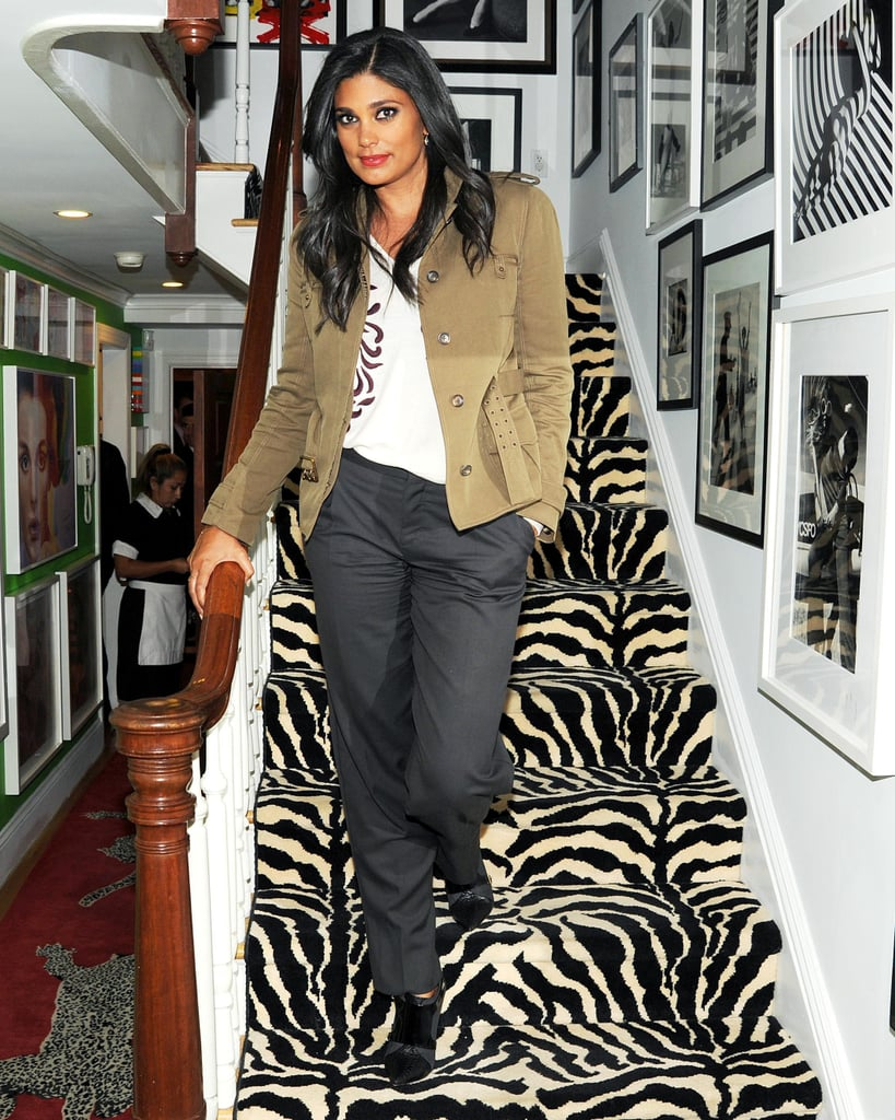 Rachel Roy made an entrance at the Elle Decor celebration.