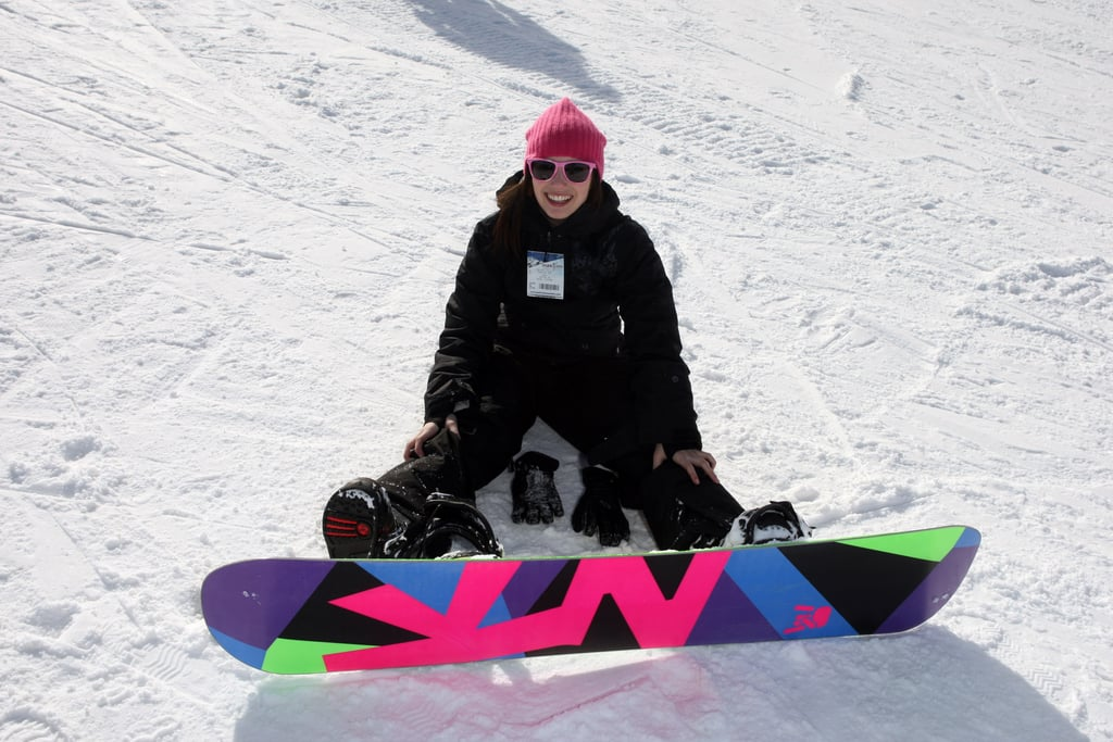 Actress Emma Roberts smiled during some downtime in the snow at Sundance 2012.