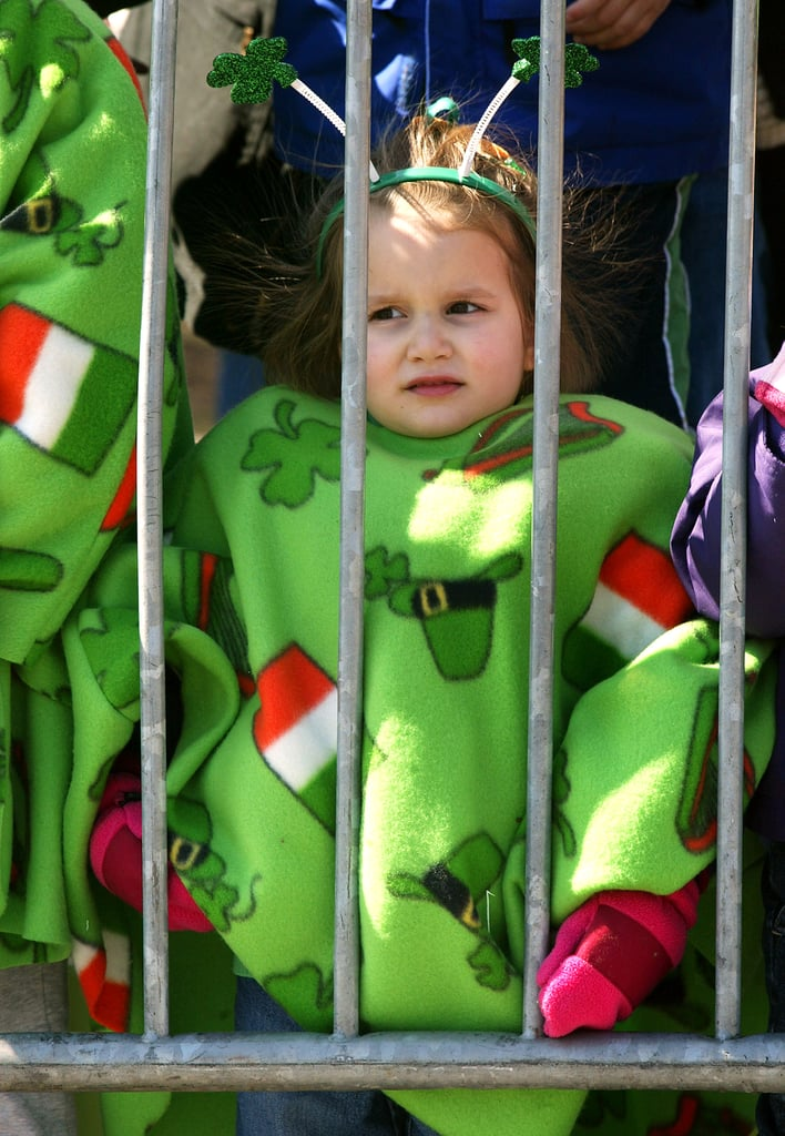 Also, kids wrapped in Irish blankets.