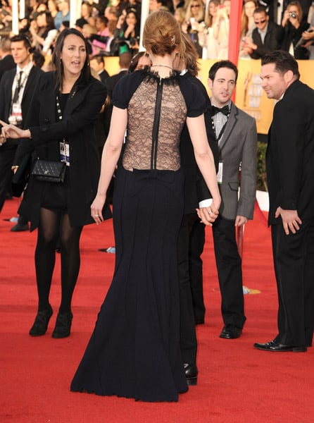 The lace back on Nicole Kidman's Nina Ricci made it extra special.