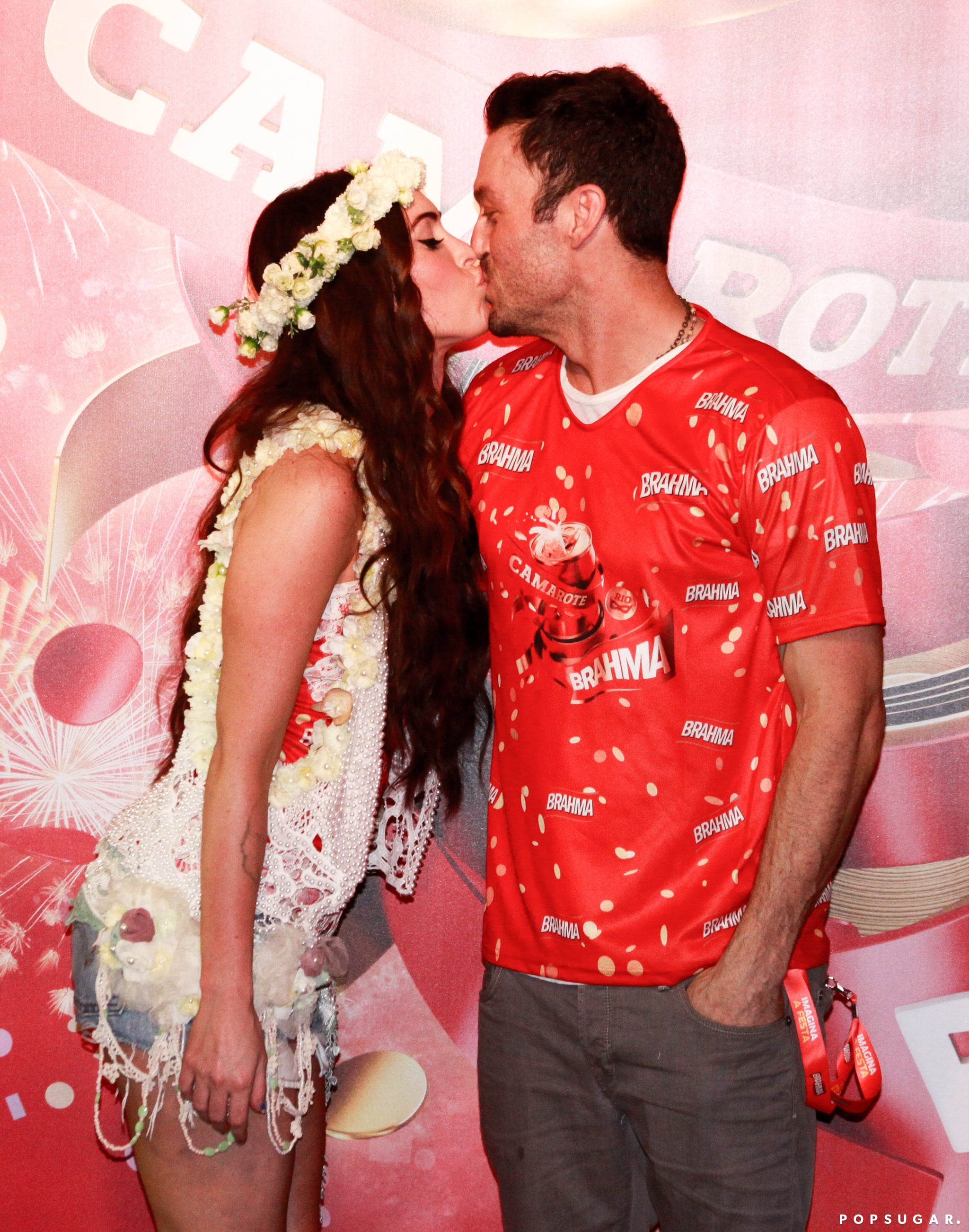 The couple showed adorable PDA during a trip to Carnival in Brazil back in February 2013.