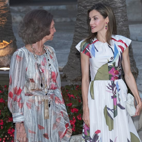 Queen Letizia and Queen Sofia's Floral Outfits August 2016