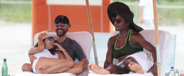 Bikini-Clad Serena Williams Hits Up Miami Beach With Eva Longoria