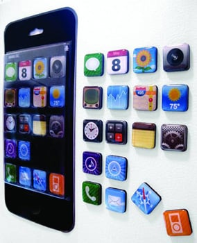 iPhone App Fridge Magnets