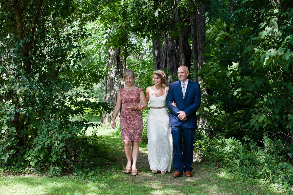 """The ceremony was my favorite part because it was officiated by one of our best friends, it was short and sweet, and it represented us to a T,"" Amy noted. Source: Evangeline Lane Photography"