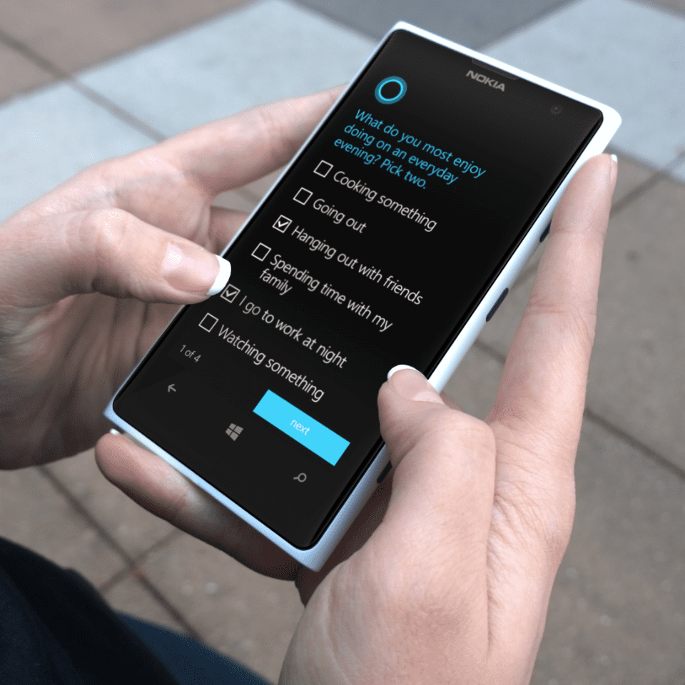 Cortana learns her user's habits.